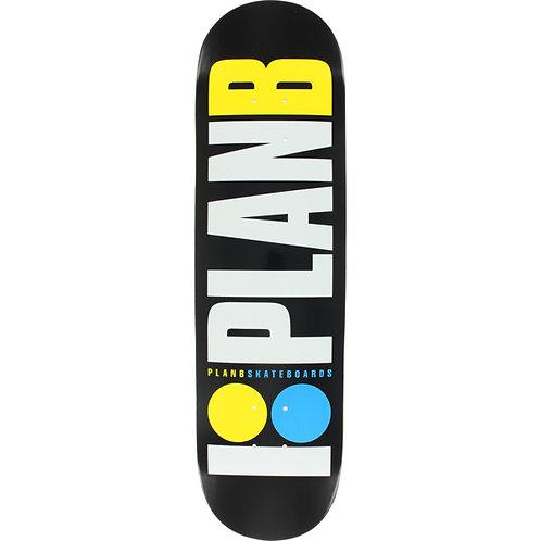 Plan B OG Neon Deck Blk/Wht/Yel/Blu