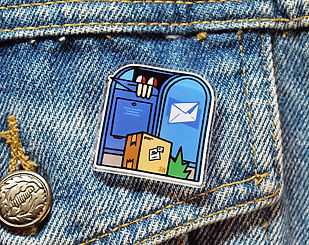 Mail Time Pin