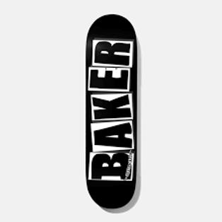 Baker Brand Logo Black White Deck 8.25