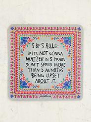 5 by 5 Rule~Vinyl Sticker