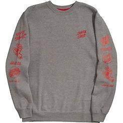 Santa Cruz Mixed Up Mens Sweatshirt Heather Grey