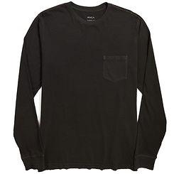 RVCA PTC Pigment LS T-Shirt Pirate Black