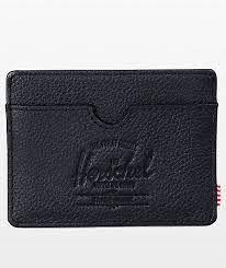 Herschel Supply Co. Charlie + Leather Black Pebble