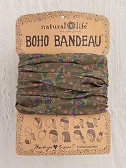 Natural Life Boho Bandeau Olive Trellis