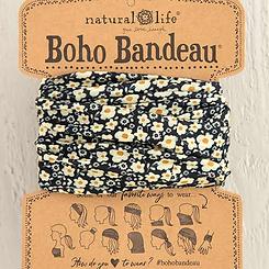 Natural Life Boho Bandeau Black Cream Tiny Daisy