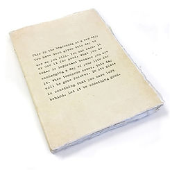 Large Deckle Edge Notebook: This is the Beginning of a New Day