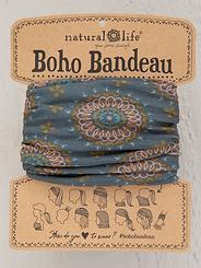 Natural Life Boho Bandeau Sage/Gold Medallions
