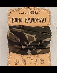 Natural Life Boho Bandeau Olive Camo