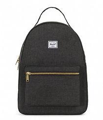 Herschel Nova Mid Backpack Black Crosshatch