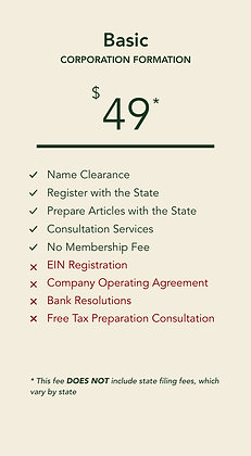 Corporation Basic Plan