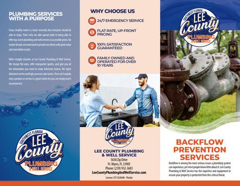 Lee County Plumbing Backflow Prevention Brochure