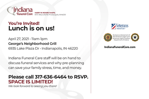 Indiana Funeral Care Direct Mail Back