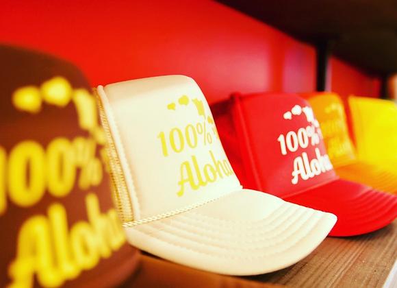 100% Aloha Trucker Hat
