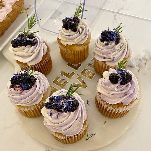 Blackberry and Lemon Cupcakes
