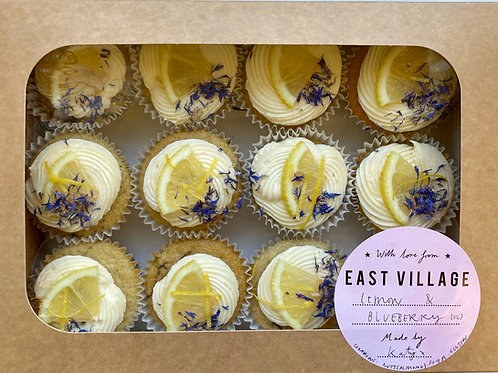 Blueberry & Lemon Cupcakes