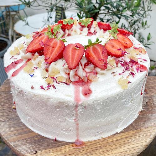 Strawberry, Lemon and Basil Cake