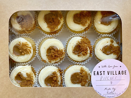 Biscoff Vanilla Cupcakes