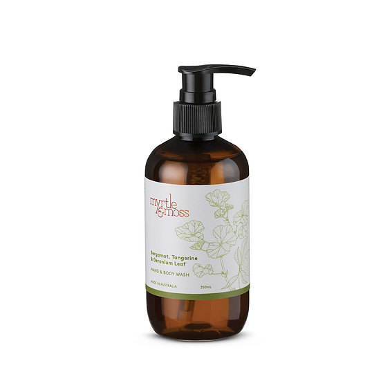 Myrtle & Moss Hand & Body Wash 250mL; Bergamot, Tangerine and Geranium Leaf