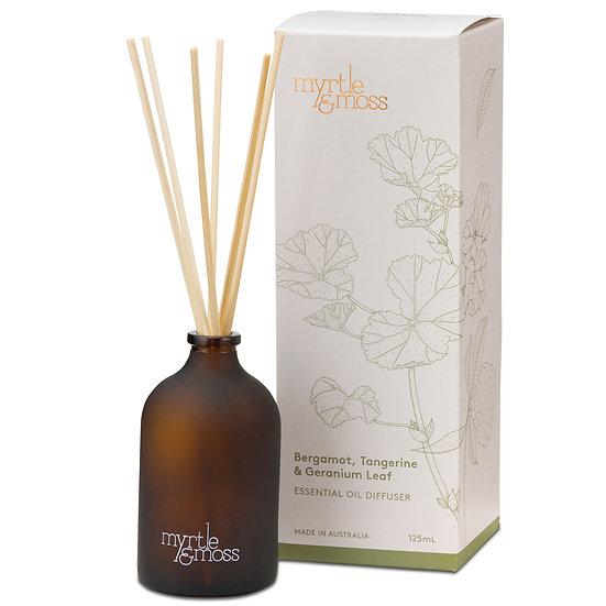 Myrtle & Moss Essential Oil Diffuser; Bergamot, Tangerine & Geranium Leaf