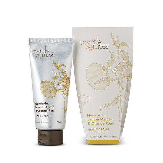 Myrtle & Moss Hand Cream; Mandarin, Lemon Myrtle and Orange Peel