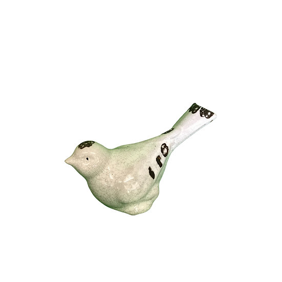 Small White Ceramic Bird