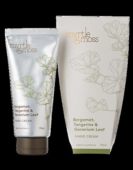 Myrtle & Moss Hand Cream; Bergamot, Tangerine and Geranium Leaf