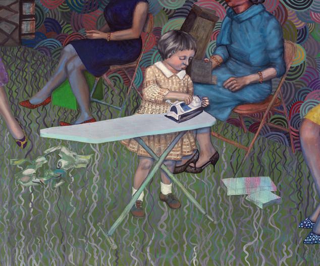 Girl Ironing 2