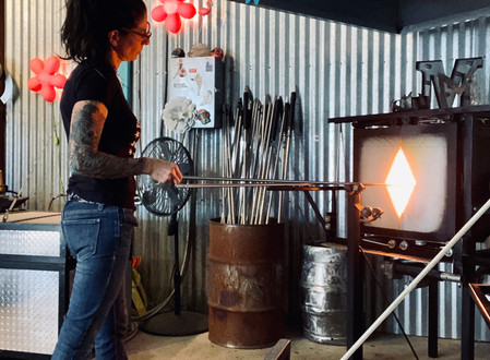 INSIDE the ABSTRACT, post #3: A Burning Desire to create, gather, & conquer (3 artists today)