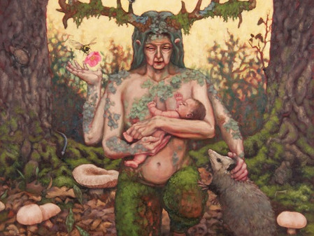 ARTIST-A-DAY BLOG: Inside A Generous Kingdom V,  with artist Melonie Steffes