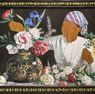 From the Missing Women Series: Bazille's Muse with Peonies