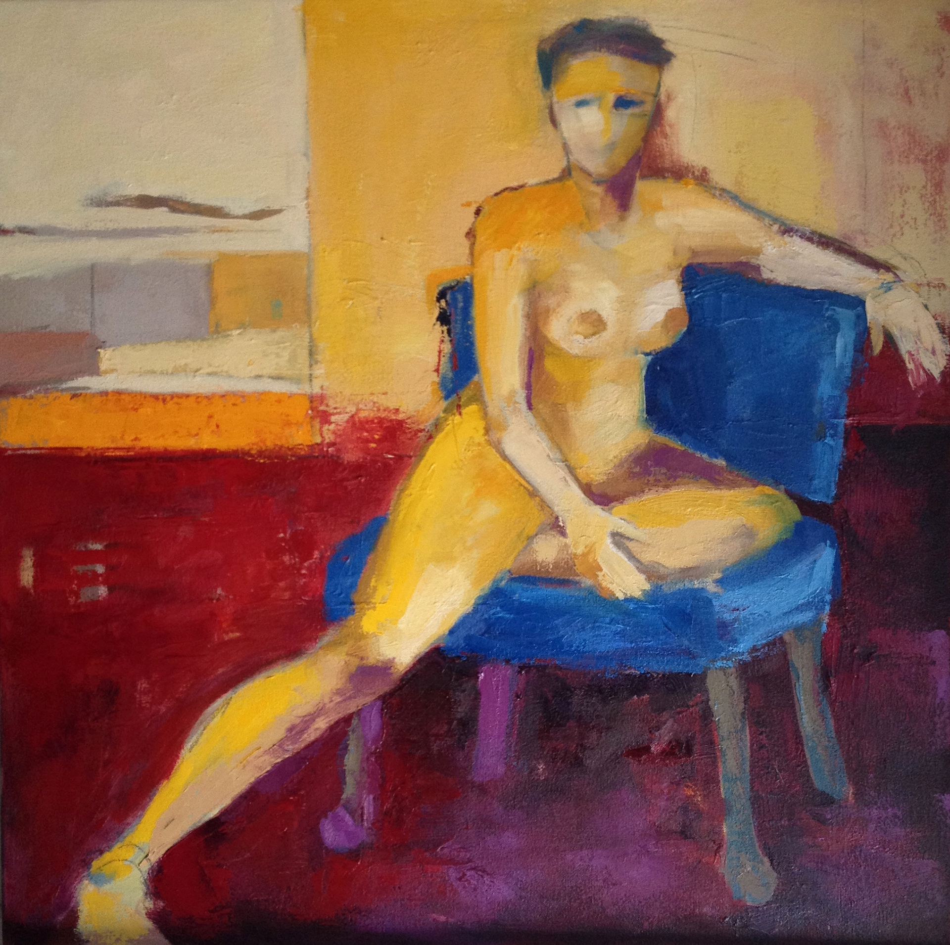Seated Nude by Bette Trono