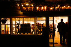 gallery at night