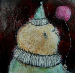 Party of One- mm on paper-12x12- 2014-Richard Cutshalledited.jpg