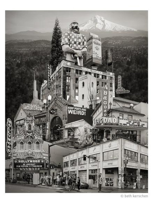 """Eastside Portland Landmarks"" -- Portland, Oregon -- Archival Fine Art Print"