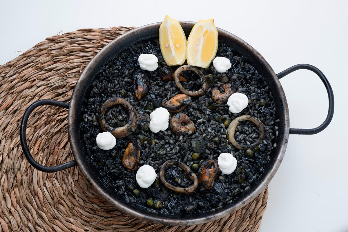 Black Paella (Seafood)