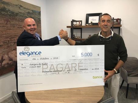 Rafael Mir y Elegans Hotels apoyando a Amigos de Buba