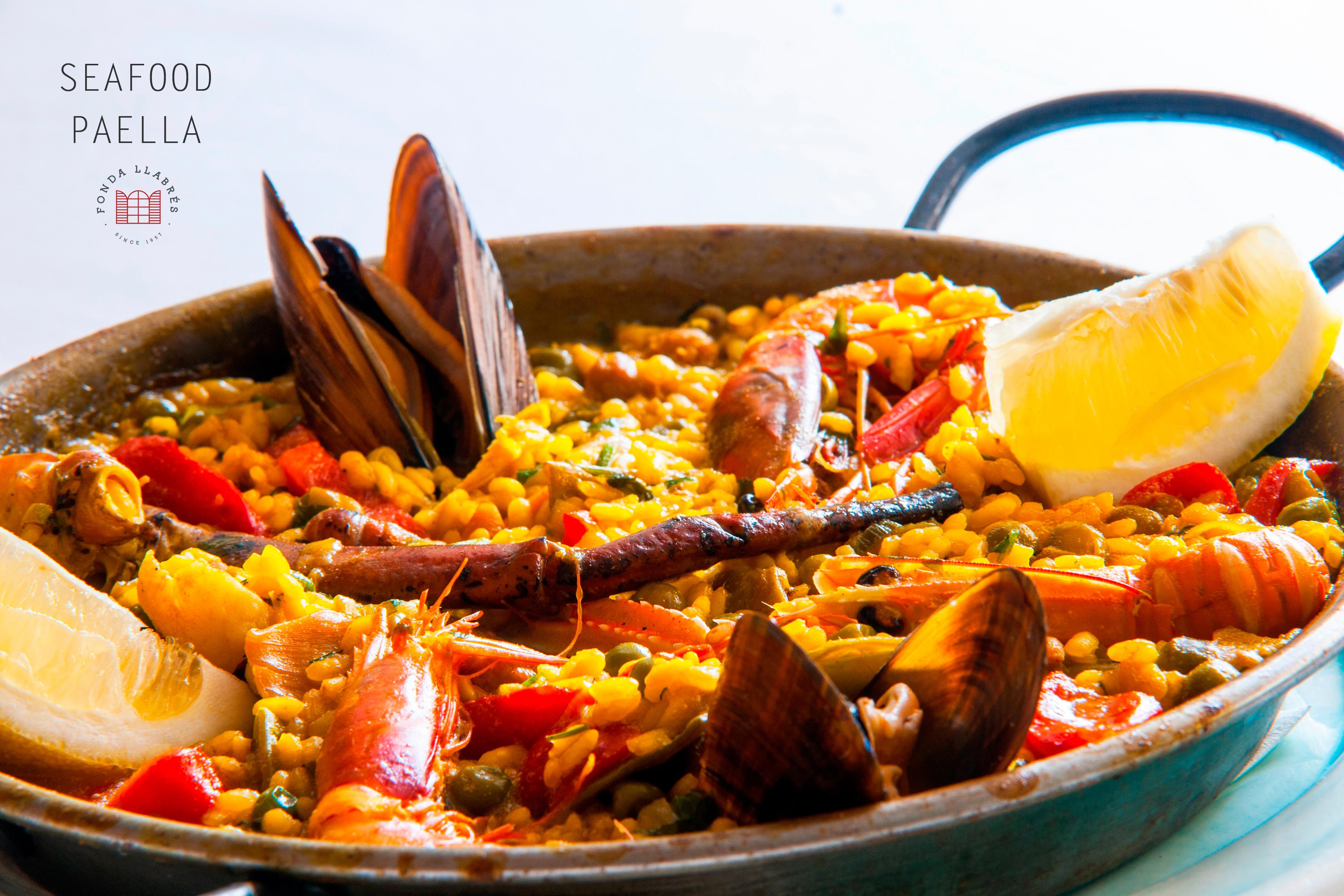 Paella de marisco @fondallabres