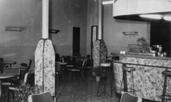 The interior of the bar in the 50s