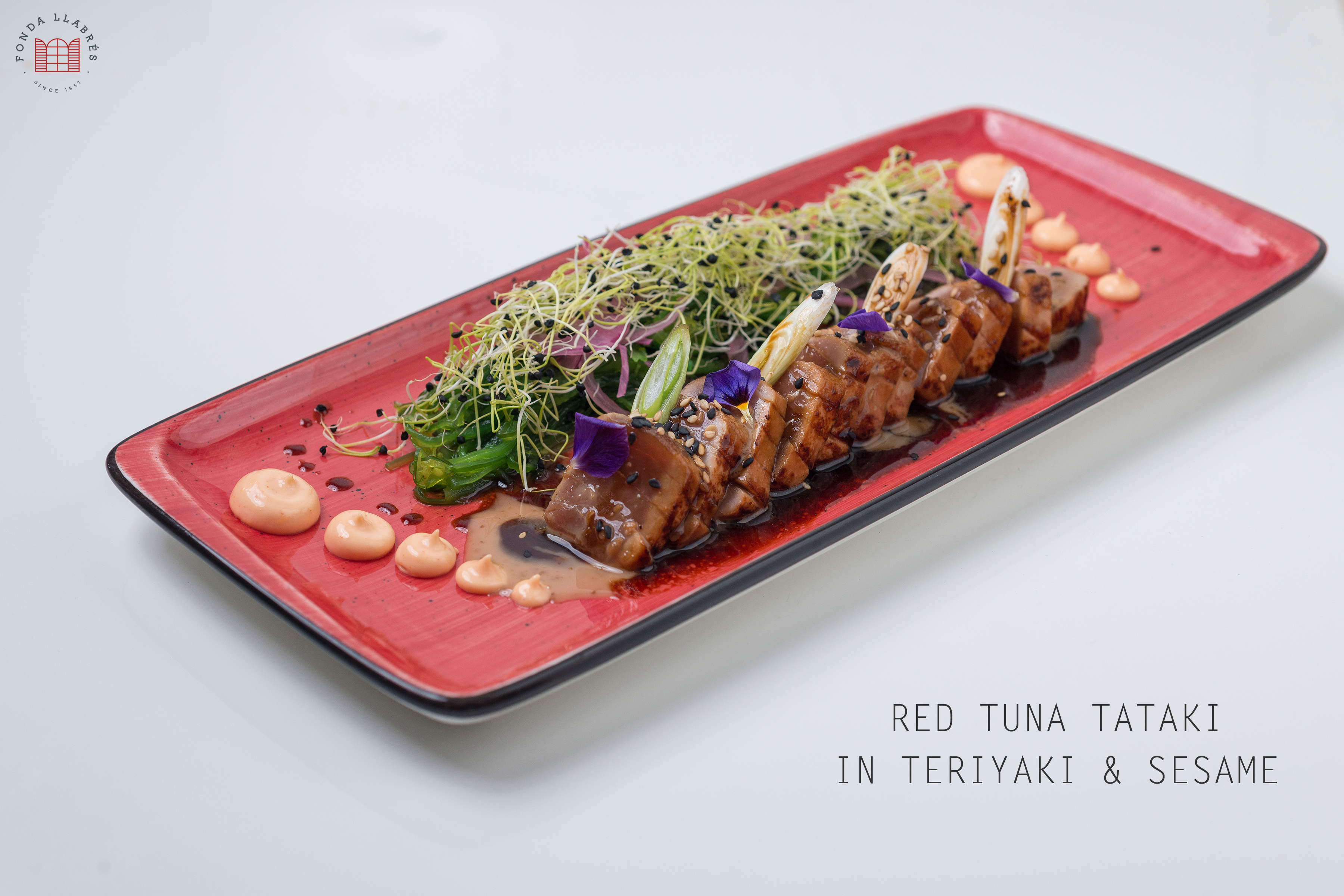 Tataki de atún rojo @fondallabres