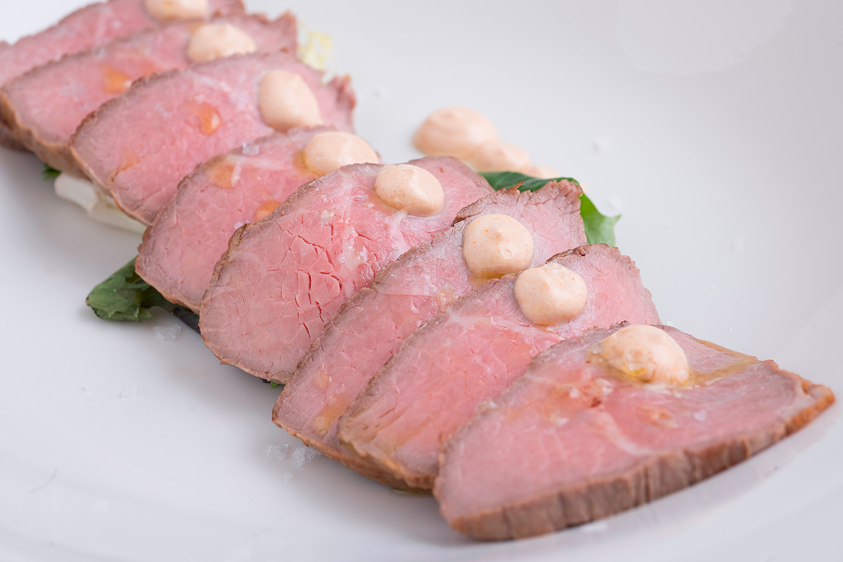 Roast Beef with capers