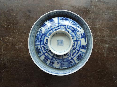 古伊万里唐子花文蓋茶碗