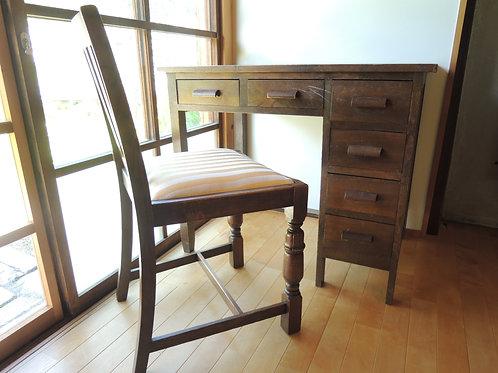 木製取っ手の机