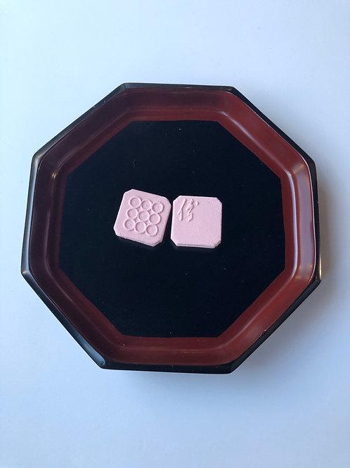 漆塗八角菓子皿