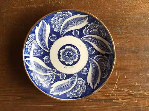 印判5寸皿牡丹