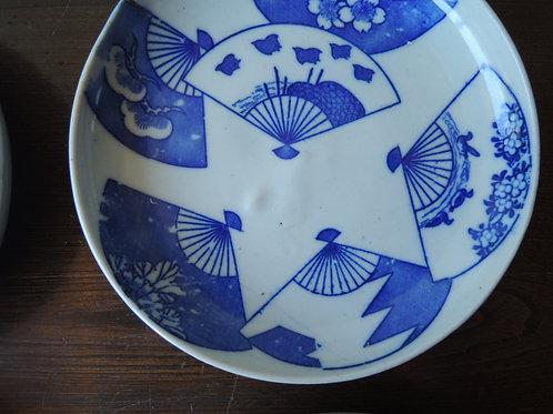 印判5寸皿扇