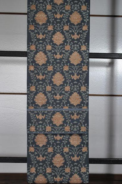 袋帯 鈍色地ペルシア花紋様 川島織物謹製