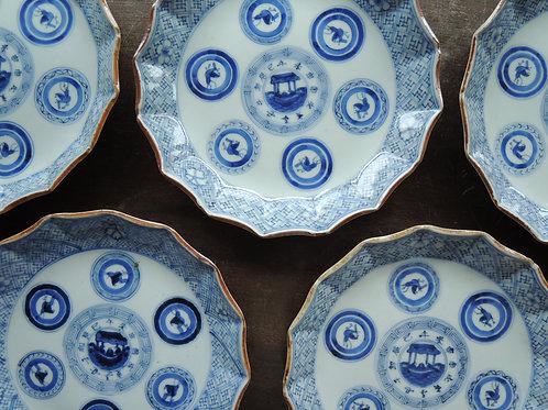古伊万里丸紋皿
