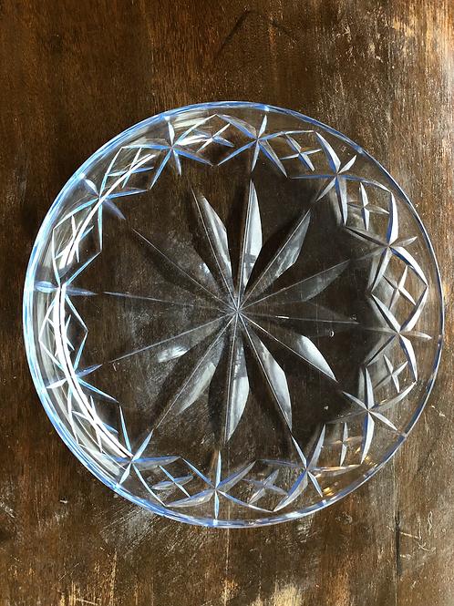 切子ガラスブルー皿