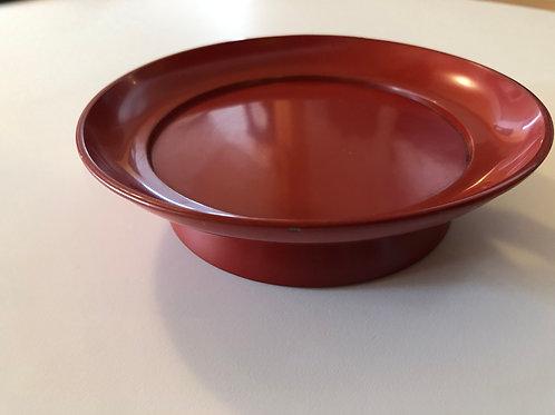 漆塗赤菓子皿