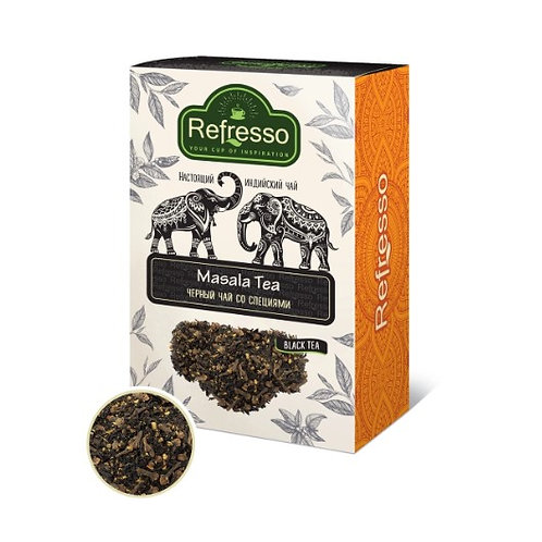 Чай Масала Рефрессо (Refresso Masala leaf tea) ассам черный со специями 100 гр